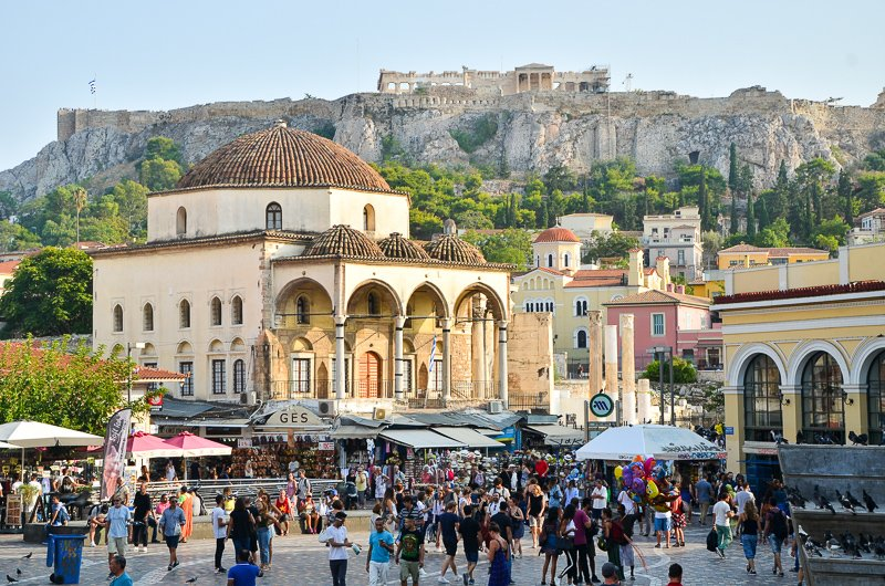 The Acropolis of Athens is one of the world's most beautiful ancient ruins.