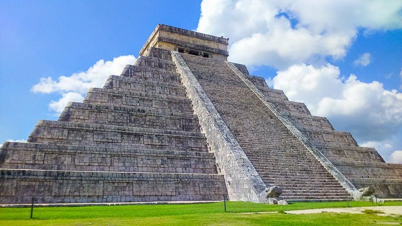 Chichen Itza is a historic temple on the Yucatan Peninsula in Mexico.