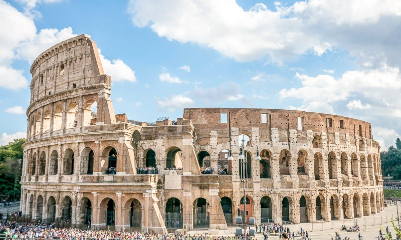 The Colosseum is a grand architectural feat in the heart of Rome.