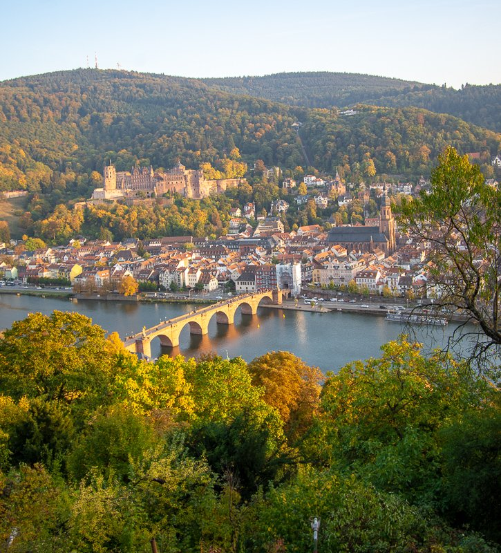 Heidelberg Germany from the Philosphenweg. It's one of the nicest cities in Europe.