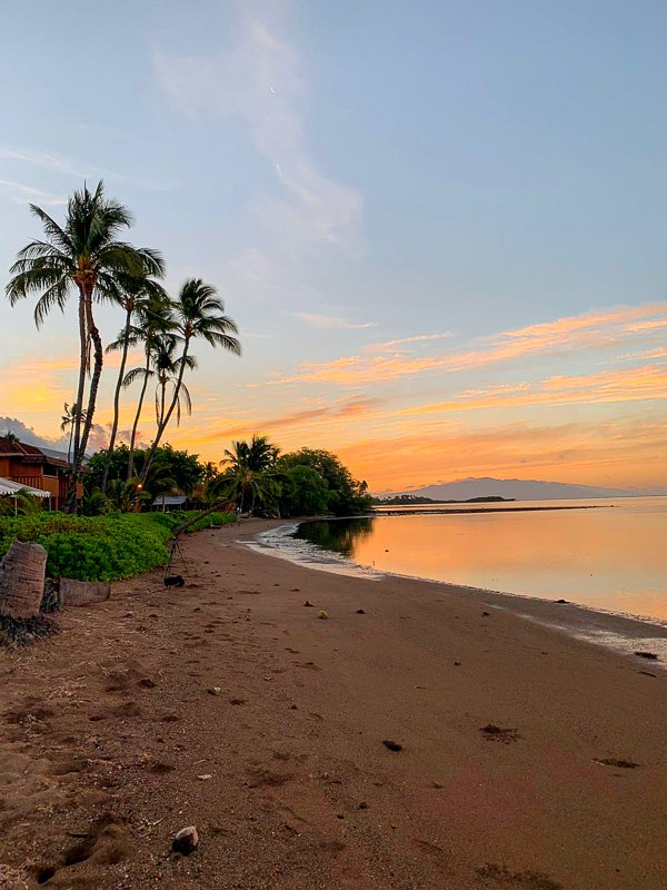 Catching the sunrise from the Hotel Molokai is a surreal experience.