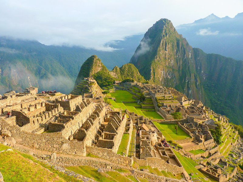 Machu Picchu ruins in Peru. It's one of the top UNESCO World Heritage Sites.