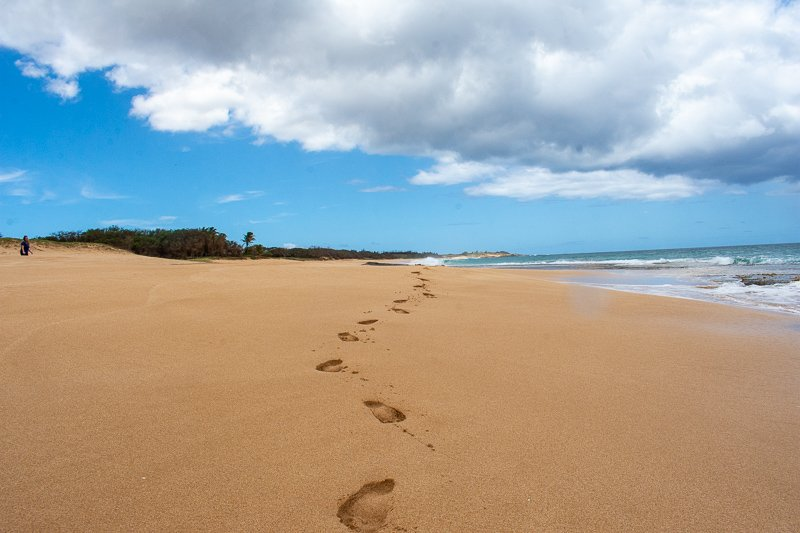 One of the best things to do in Molokai is stopping by Papohaku beach. This is a must-do in my Molokai travel guide.
