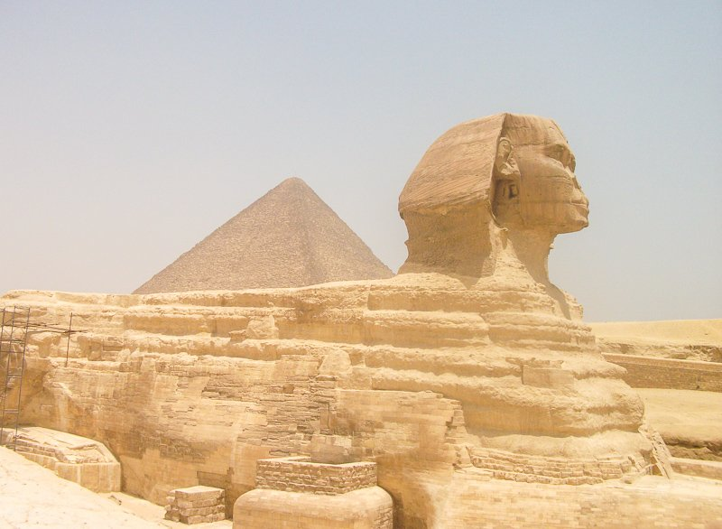 The Great Sphinx of Giza lies alongside the Great Pyramids of Egypt, which is one of the top UNESCO World Heritage SItes.