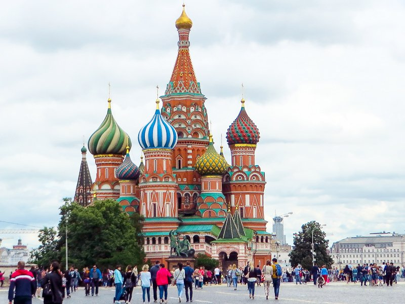 St. Basil's Basilica in Moscow, Russia.
