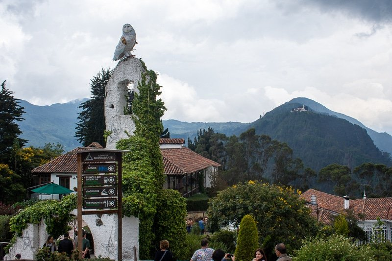 Bogotá and Monserrate are at 8,660 ft. and 10,341 ft. elevation, respectively.