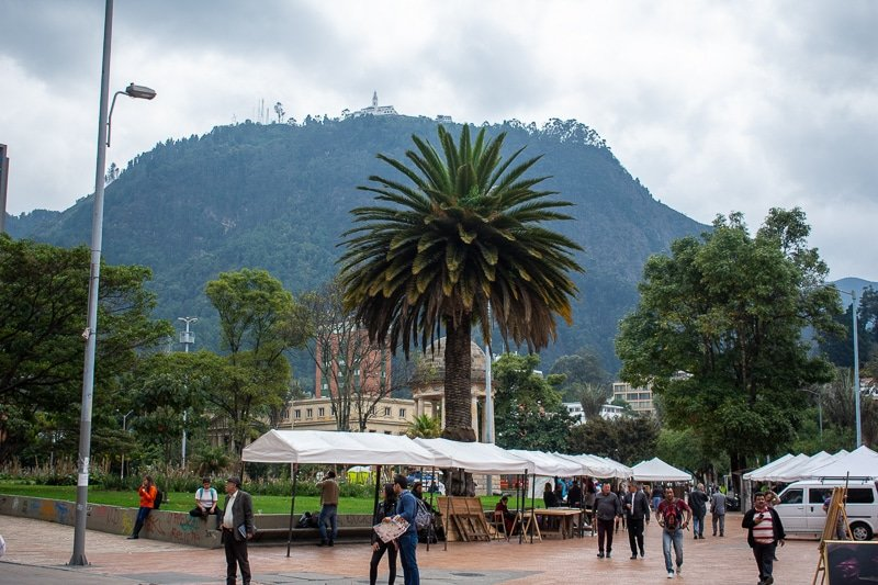 The mountains are a helpful navigation tool to get around Bogotá.