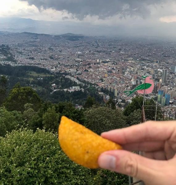 Empanadas are a popular cuisine in Bogota, Colombia.