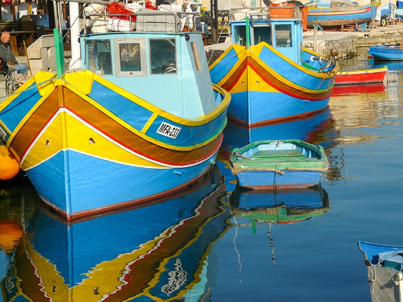 A luzzu is a traditional Maltese fishing boat. It makes for one of the best Malta Instagram spots.