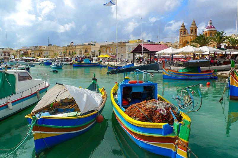 Marsaxlokk is one of the most colorful villages and one of the top Malta Instagram spots.