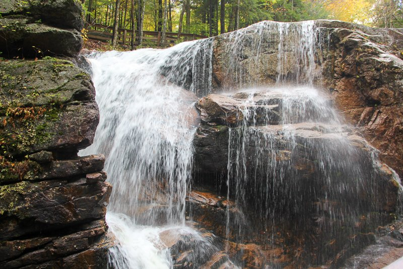 Waterfalls and flumes galore in the White Mountains.
