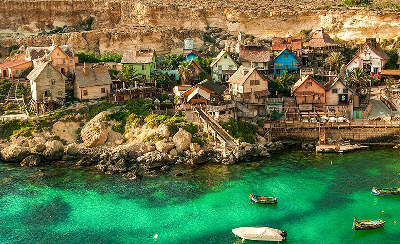 Popeye Village is a seaside village built for cinematic purposes. It's among the top Malta Instagram spots.