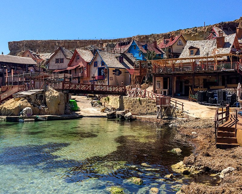 Popeye Village is a popular playground for kids, it's highly ranked among the Malta Instagram spots.