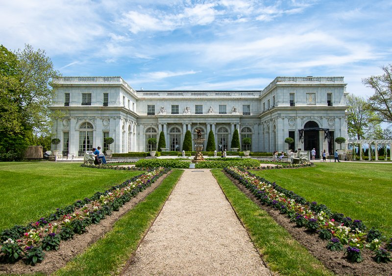 Rosecliff is a must-see mansion in Newport, one of the best weekend getaways in New England.