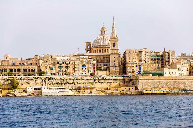 Valletta's skyline is definitely one of the best Malta Instagram spots.