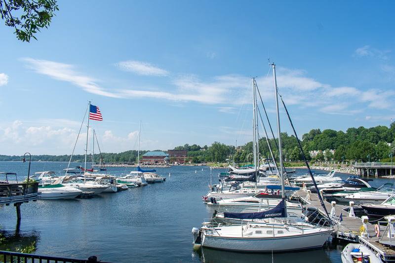 Burlington lies right on Lake Champlain.