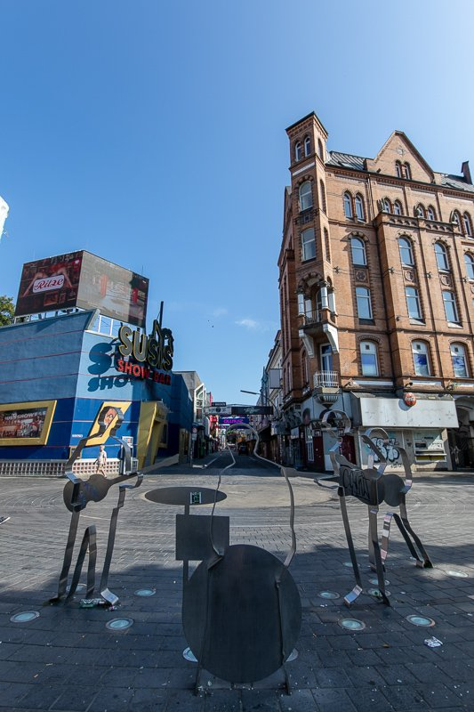 For you Beatles fans, you'll find the Beatles-Platz on the Reeperbahn. It's shaped like a vinyl record. It's among the top things to see in this travel guide of Hamburg.