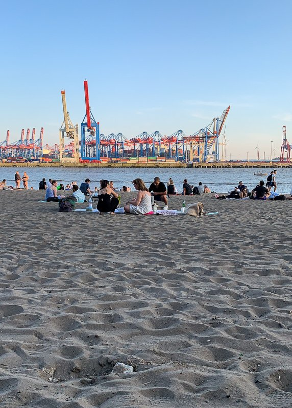 Hamburg's stretch of beach (called the Elbstrand) doesn't fit the image of your typical beach. Yet, it's still one of the best things to see and do in Hamburg, Germany.