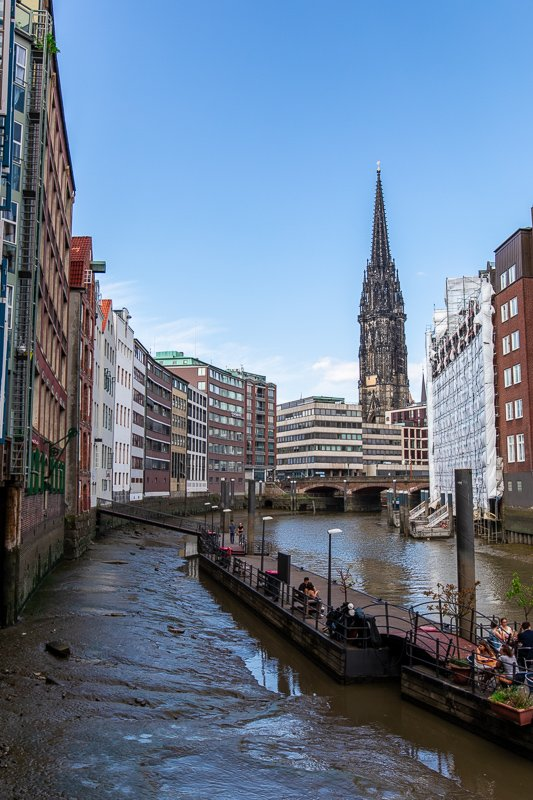 Hamburg is a city of canals.