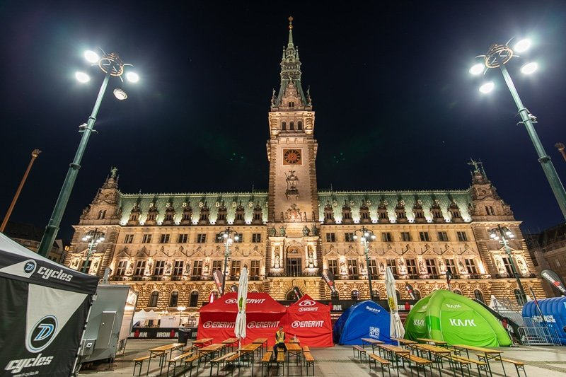 Hamburg's Rathaus (City Hall) is equally enchanting at night.