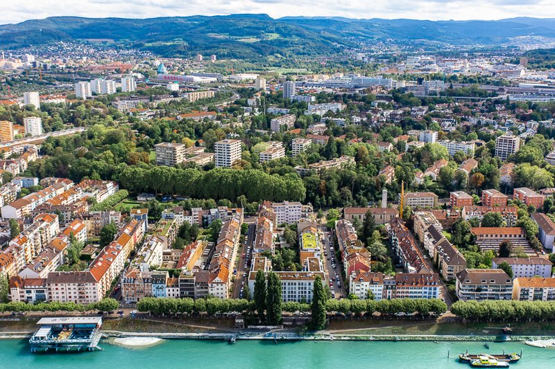 Aerial View of Basel, Switzerland