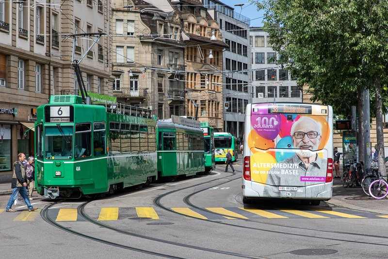 Trams are a convenient way to get around Basel. It's the perfect mode of transportation during a weekend getaway in Basel.