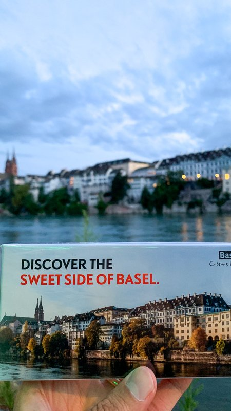 When in Basel, be sure to try the Basler Läckerli. It's a biscuit made of honey, hazelnuts, and almonds, topped with sugar glaze.