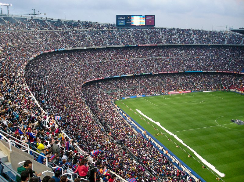 Camp Nou in Barcelona. Booking attractions is one of the main things to do before a flight.