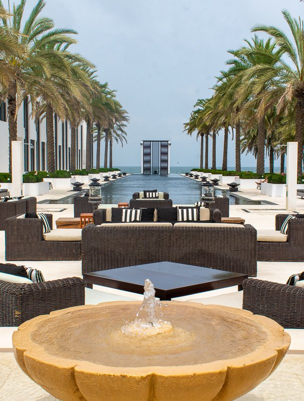The Chedi Muscat in Oman. Booking a hotel is among the key things to do before getting on a flight.