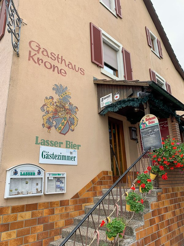 On my way back to the Germany-Switzerland border, I stopped at a local guesthouse for a beer and a bite to eat. The place was so local, that the waitress and at least one patron were smoking cigarettes inside…something I haven't seen since the 1990s.