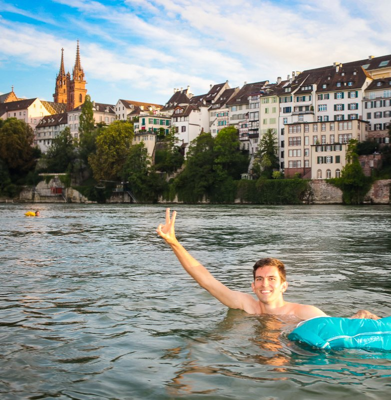 As you can tell by my facial expression, swimming in the Rhine was one of my favorite weekend activities in Basel.