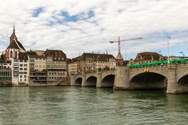 The Mittlere Brücke was one of the oldest bridges along the Rhine.