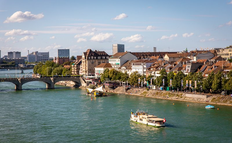 The Pfalz offers a unique vantage point of Altstadt Kleinbasel and the river that runs along it.