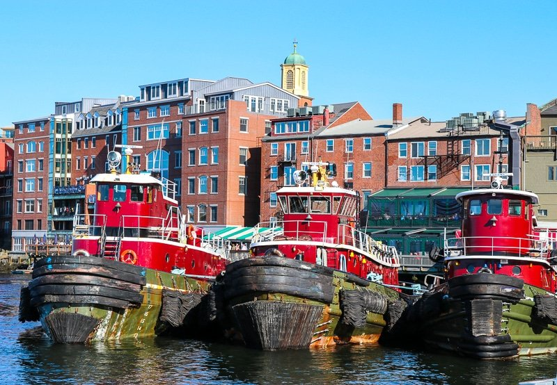 Portsmouth, New Hampshire is one of the top day trips from Boston.
