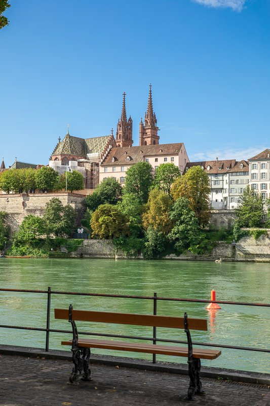 View of Basel from the Rhine River. One of the most underrated cities to visit in Europe.