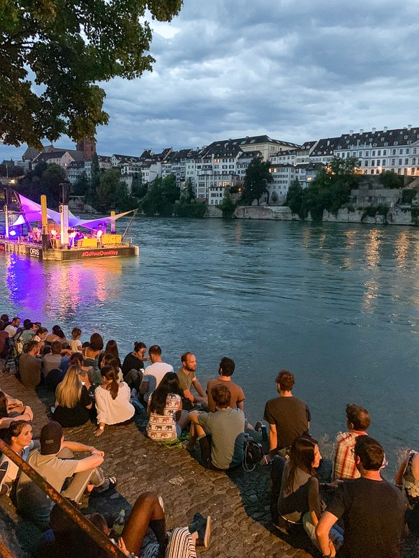 In the summer, all types of events are happening in Basel.