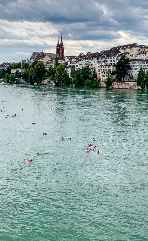 In the summer months, swimming down the Rhine River is one of the top activities amongst locals.
