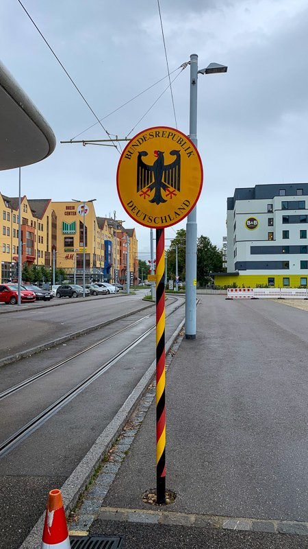The Germany-Switzerland border.
