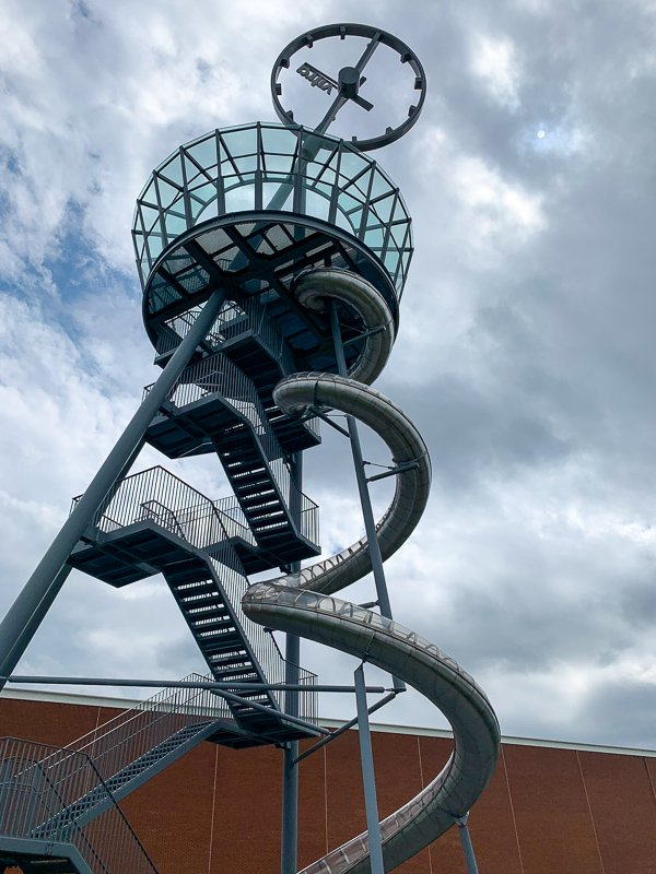The Vitra Slide Tower is a 100-foot slide, tower, and work of art all at once.