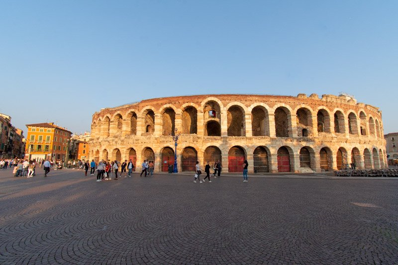 Arena di Verona, Italy on a day trip from Bologna