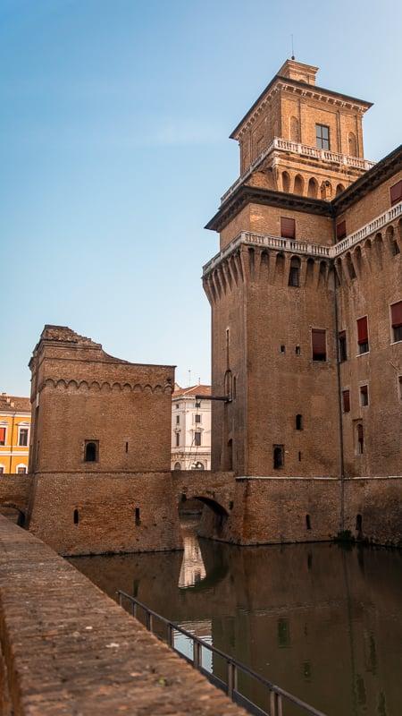 Castello Estense, a great day trip from Bologna