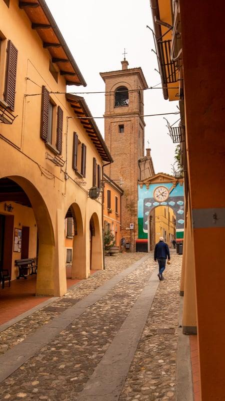 Dozza's colorful streets