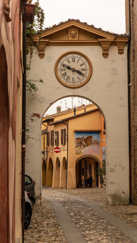 Dozza quaint cobbled streets