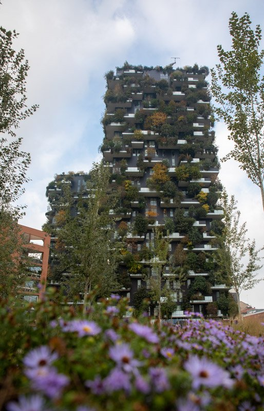Bosco Verticale in Milan, one of the best day trips from Bologna outside Emilia Romagna