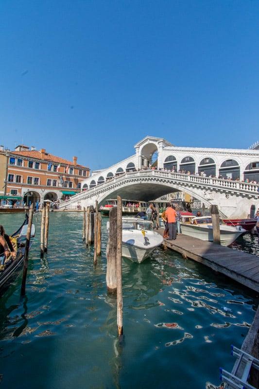 Rialto Bridge in Venice, Italy on a day trip from Bologna