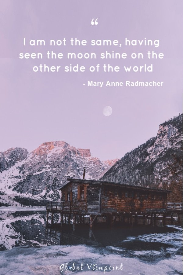 Top travel quote by Mary Anne Radmacher.