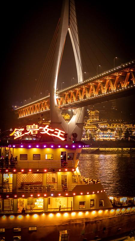 Night cruise in Chongqing.
