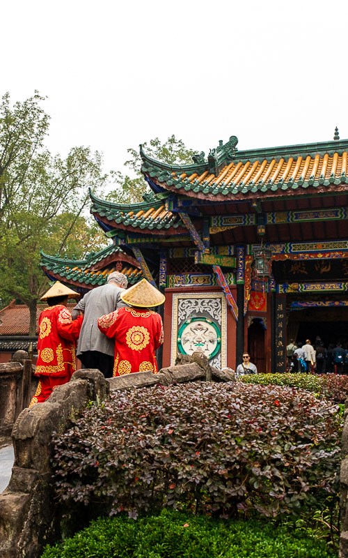 The Guardians of the Bridge in Fengdu Ghost City