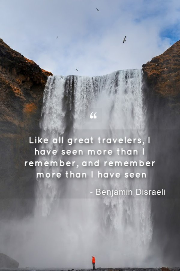 Of all the quotes about traveling I've compiled, this is among the most interesting.