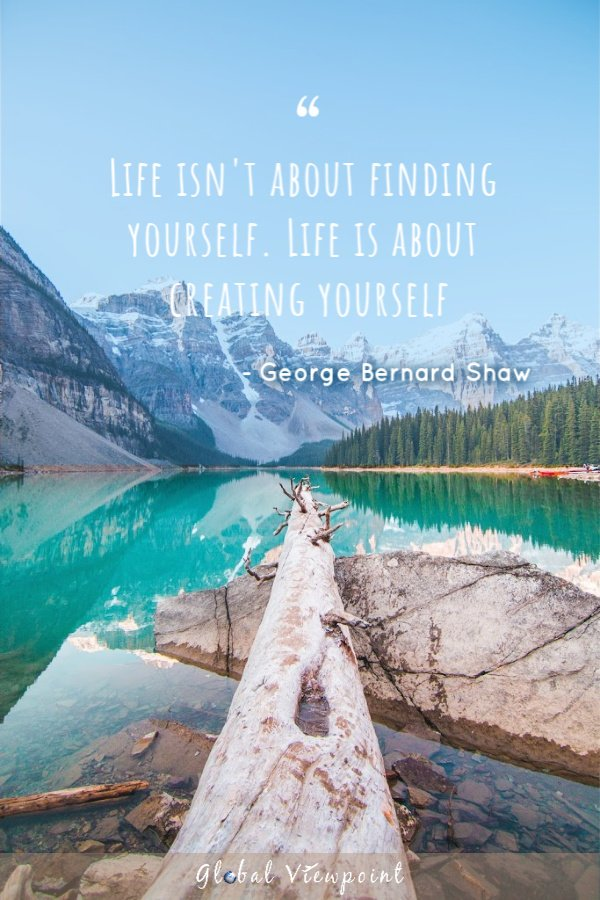 Travel quote about life is about finding yourself.